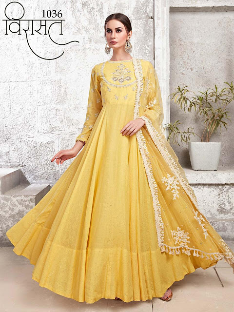 Virasat vol 8 Anarkali indo Western Wedding Gown
