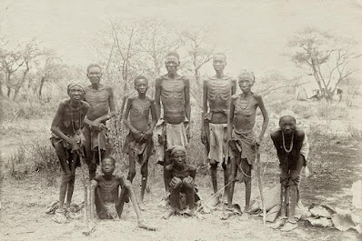 Surviving Herero after the escape through the arid desert of Omaheke, c. 1907