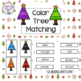 Free Color Words File Folder game