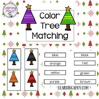 Free Color Words File Folder game