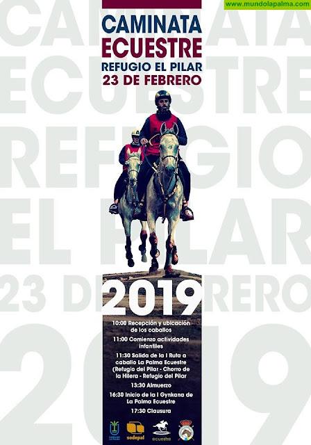 La Palma Ecuestre celebra este sábado una ruta a caballo en el entorno del Refugio de El Pilar