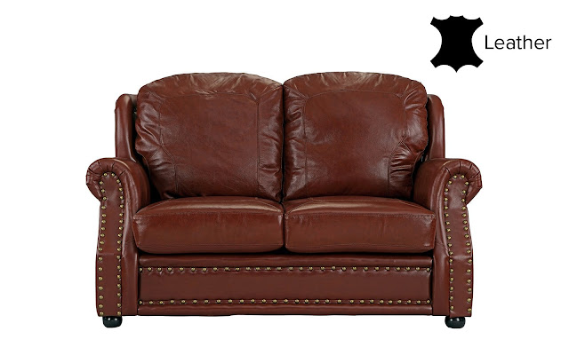 Savannah Classic Executive Style Leather Match Loveseat