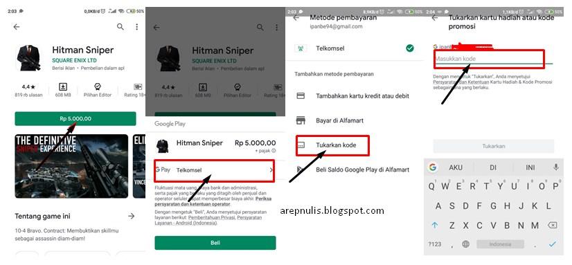 Beberapa Cara Membeli Aplikasi Di Play Store Dengan Mudah Arep Nulis