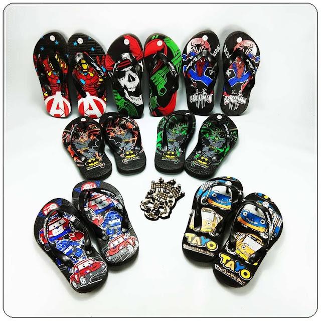 Sandal AMX Karakter Spon Anak || Grosir Sandal Murah