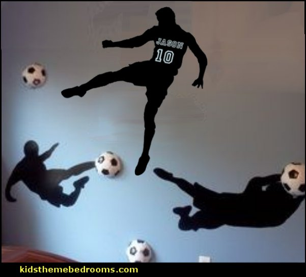 sports wall decal stickers soccer bedroom wall decals soccer bedroom ideas