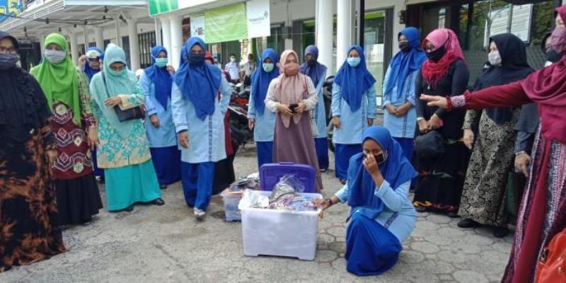 Cegah Covid-19, SMK di Kepri Beri Bantuan Masker Dan Hand Sanitizer