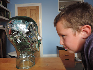 terminator head glass head with circuit boards