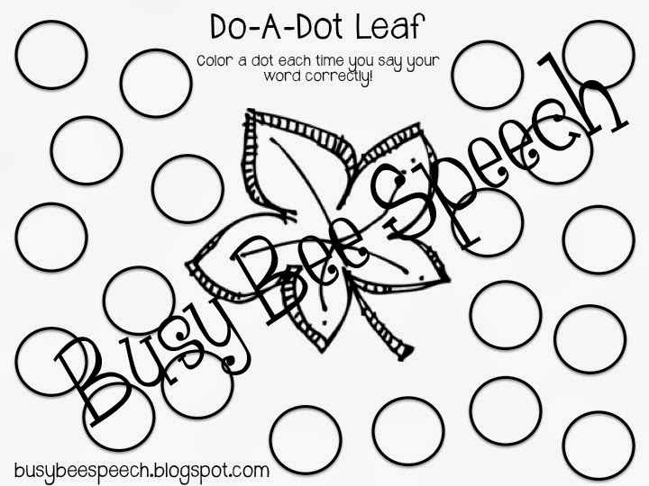 Busy Bee Speech: Fall Worksheet Packets and Bundles!
