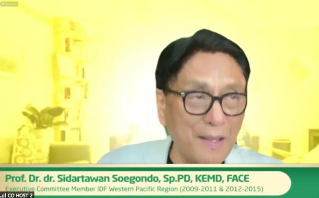 dr. Sidartawan menjelaskan tentang penyebab diabetes
