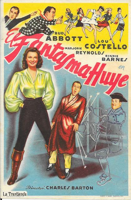 El Fantasma Huye - Programa de Cine - Bud Abbott - Lou Costello - Marjorie Reynolds