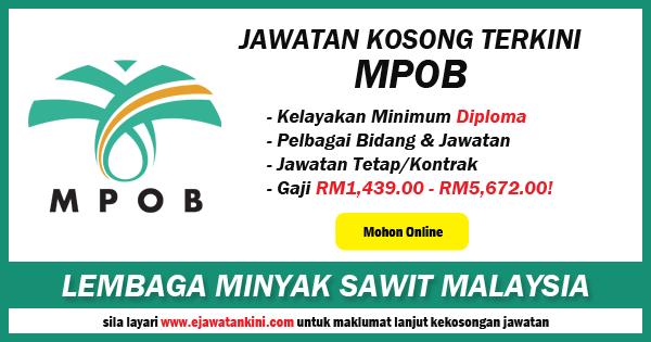 jawatan kosong lembaga minyak sawit malaysia