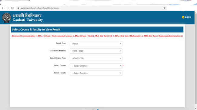 Gauhati University Result