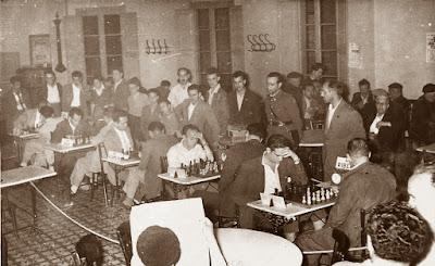 Primera ronda del Torneo de Ajedrez de La Pobla de Lillet 1957