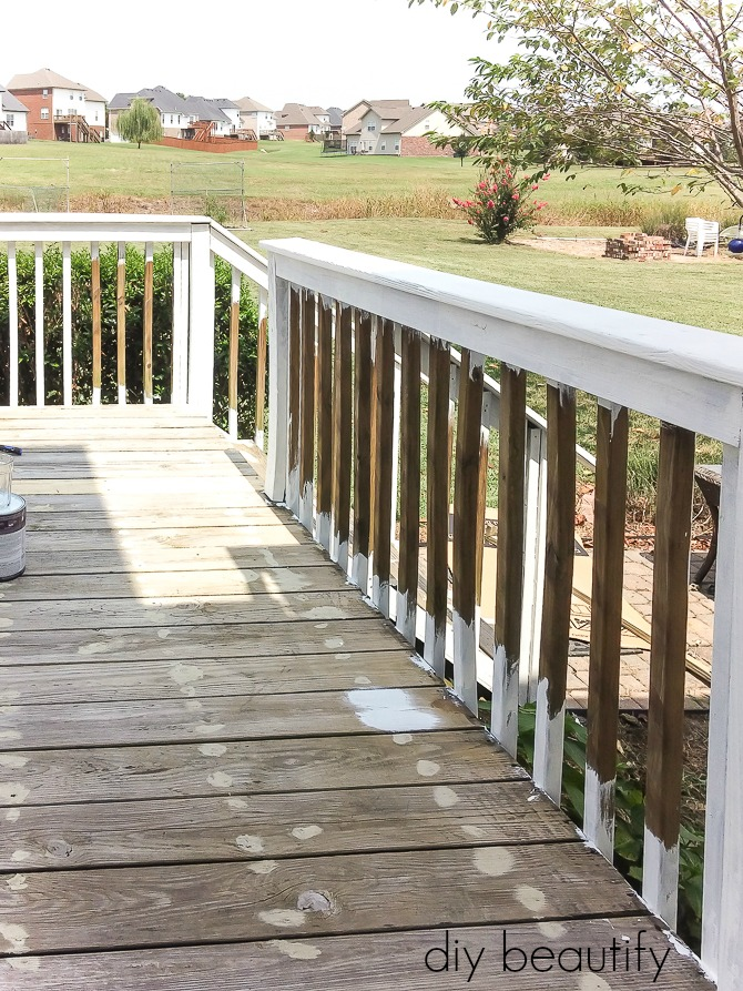 painting deck rails