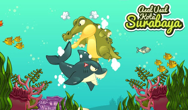 Legenda Asal-Usul Surabaya – Ikan Hiu dan Buaya (Jawa Timur)