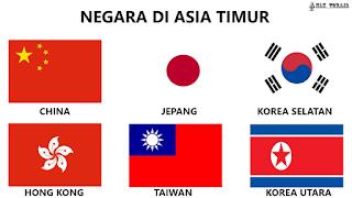 Bendera Negara Di Asia Timur