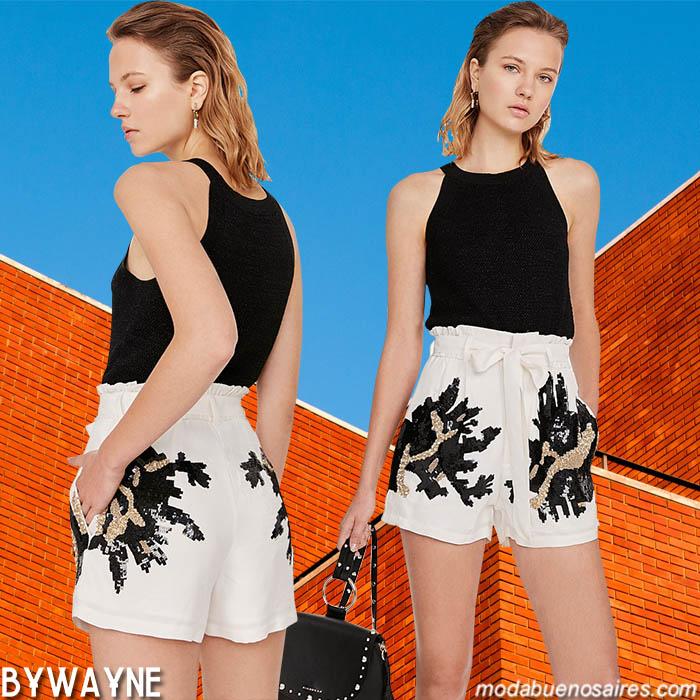 Shorts con lazos en la cintura mujer primavera verano 2020.