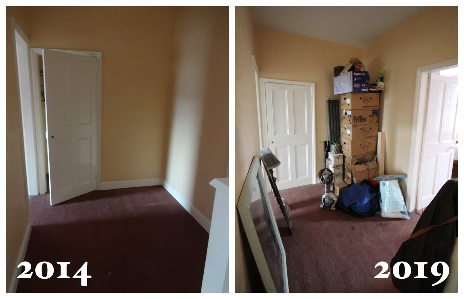 landing renovation before and after 5 years