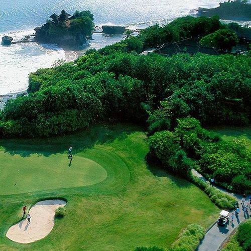 Tinuku Layout design Nirwana Bali Golf Club seascapes, Tanah Lot temple and terraced rice fields