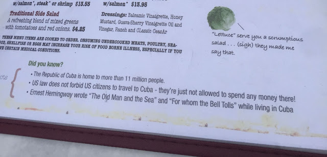 Fun Cuban facts and Lettuce miseries on the menu at Mojito's Cuban Cuisine