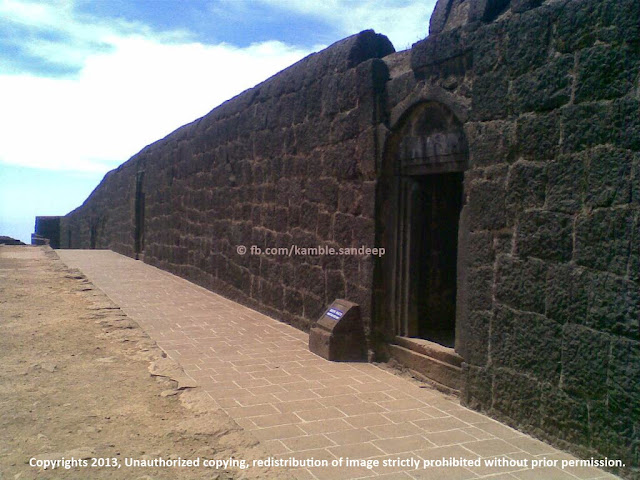 Ruins of Queen's Palace at Raigad Fort