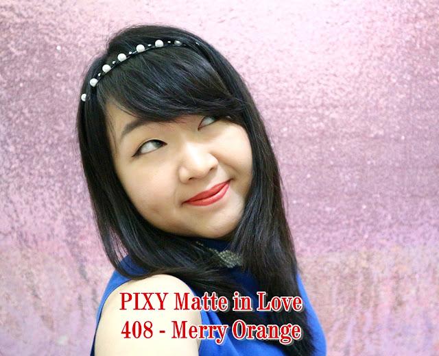 PIXY Matte in Love Lipstick 408 Merry Orange