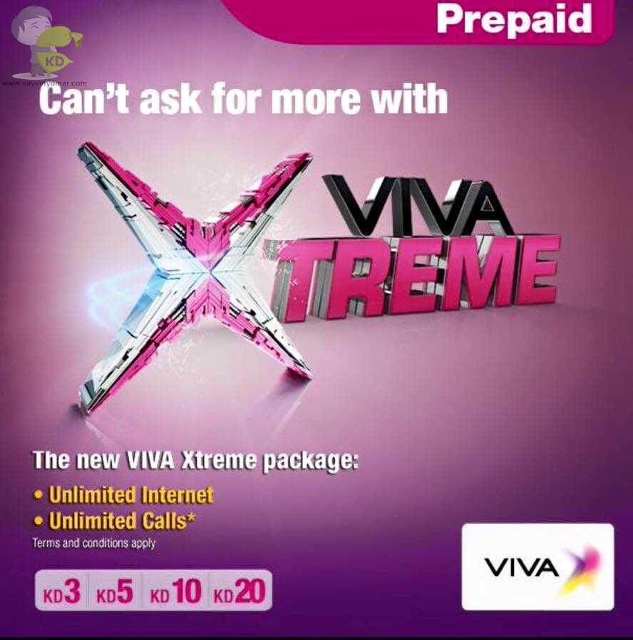 Viva Kuwait - ViVa xtreme Offer Unlimited Internet & Calls