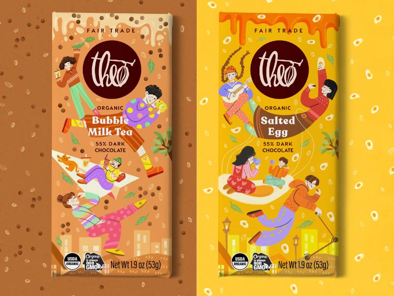 Theo Chocolate Packaging – Fantasy Series
