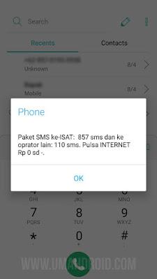 Check Paket SMS Indosat Ooredoo