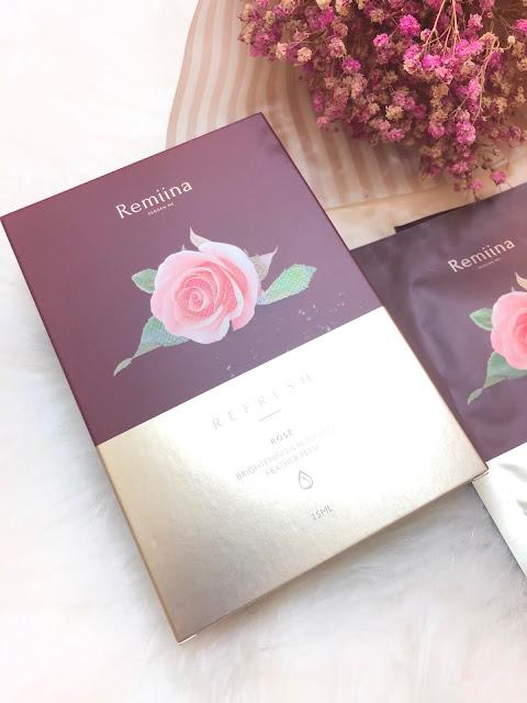 Remiina 玫瑰亮白極羽絲隱形面膜