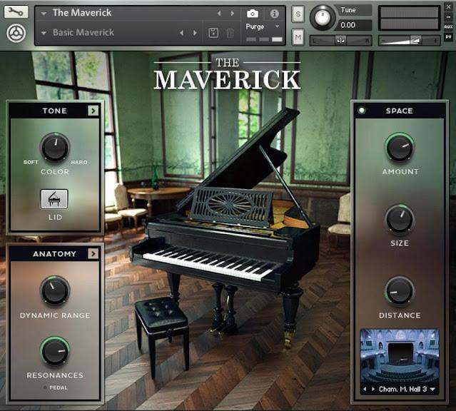 Interface da Library Native Instruments - The Maverick (KONTAKT)