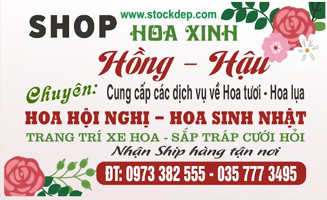 business card vector Free shop hoa tươi