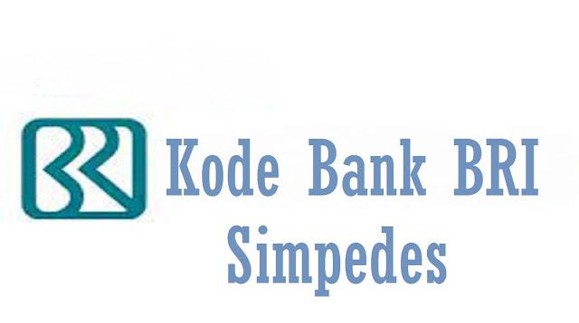 Kode Bank BRI Simpedes