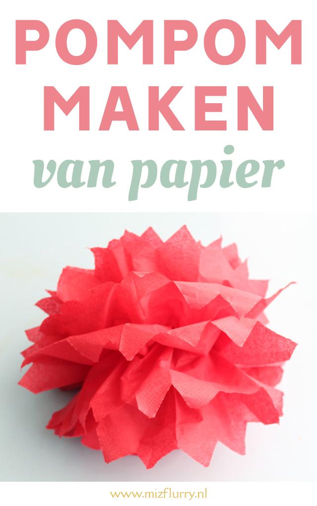 pompom maken papier pinterest