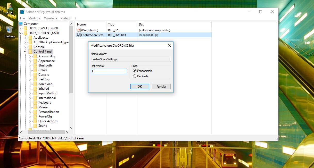 """Come abilitare l'opzione nascosta """"Condivisione"""" nelle Impostazioni di Windows 10 3 HTNovo"""