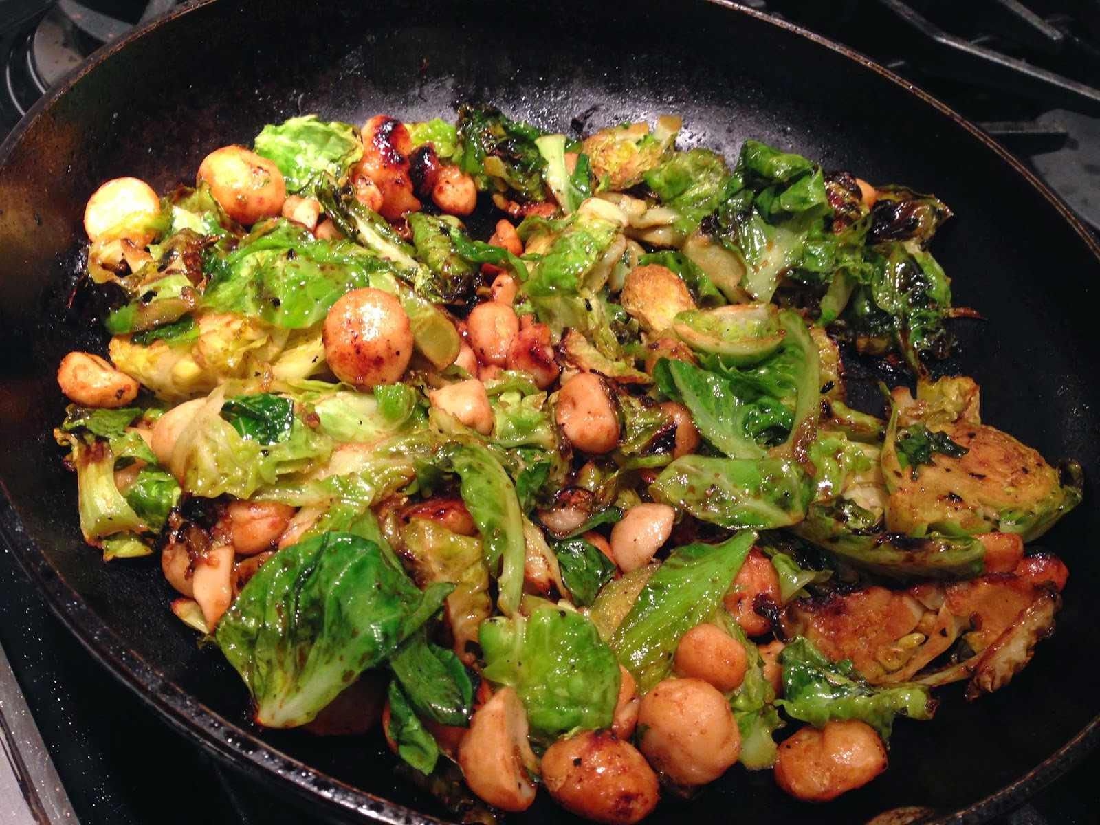 04647be45f1c2 These maple pan-fried brussels sprouts with macadamia nuts can be served  alone as well!