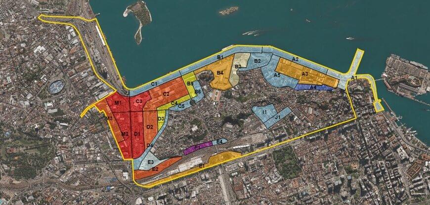 Figura 02 - Mapa Subsetores Porto Maravilha