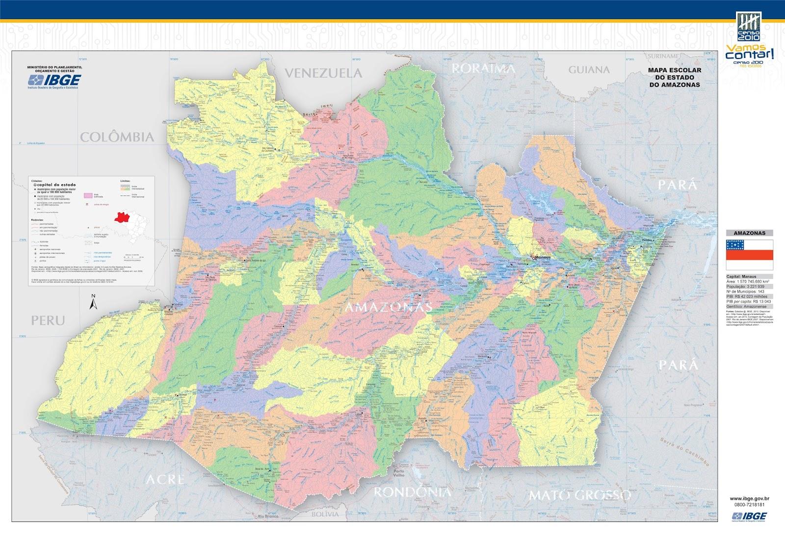 #Amazonas | Mapas Geográficos do Amazonas