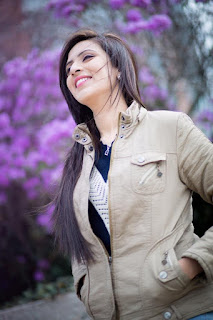 Bidya Sinha Saha Mim Happy Smile Winter Season Photos In Park