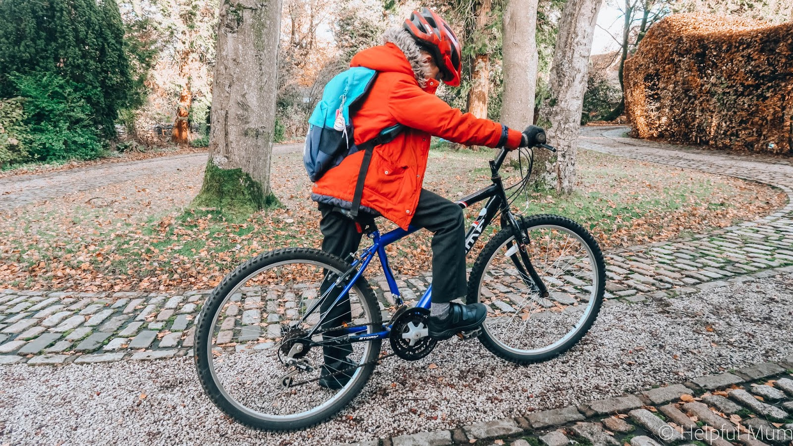 Riding bike to school