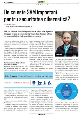 Securitate cibernetica, Software Asset Management, SAM Romania