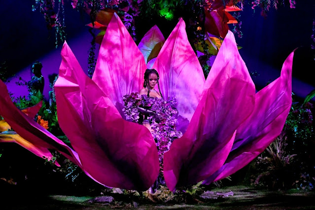 Rihanna is seen onstage during Rihanna's Savage X Fenty Show Vol. 2