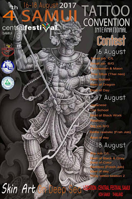 4th Samui tattoo convention at Central Festival, 16-18 August