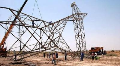 """استهداف عدد من خطوط نقل الطاقة """"الكهربائية الشمالية"""" لهجمات منظمة"""