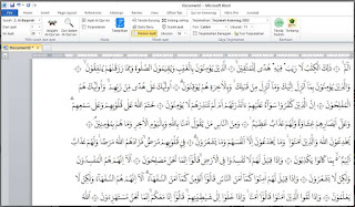 Cara Instal Qur'an Kemenag In MS. Word