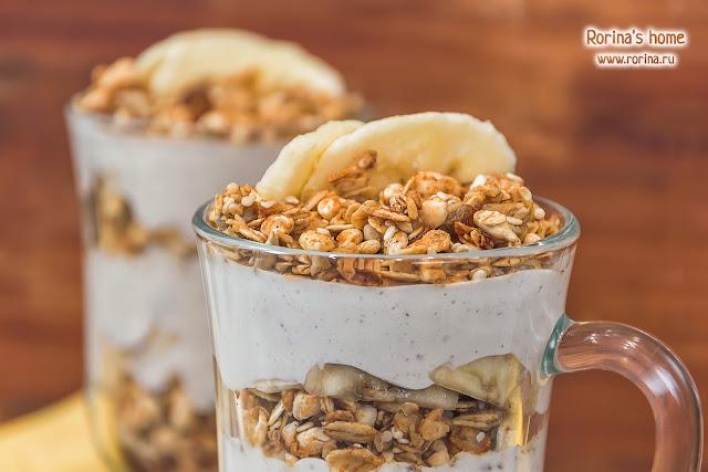 Десерт с гранолой диетический: рецепт