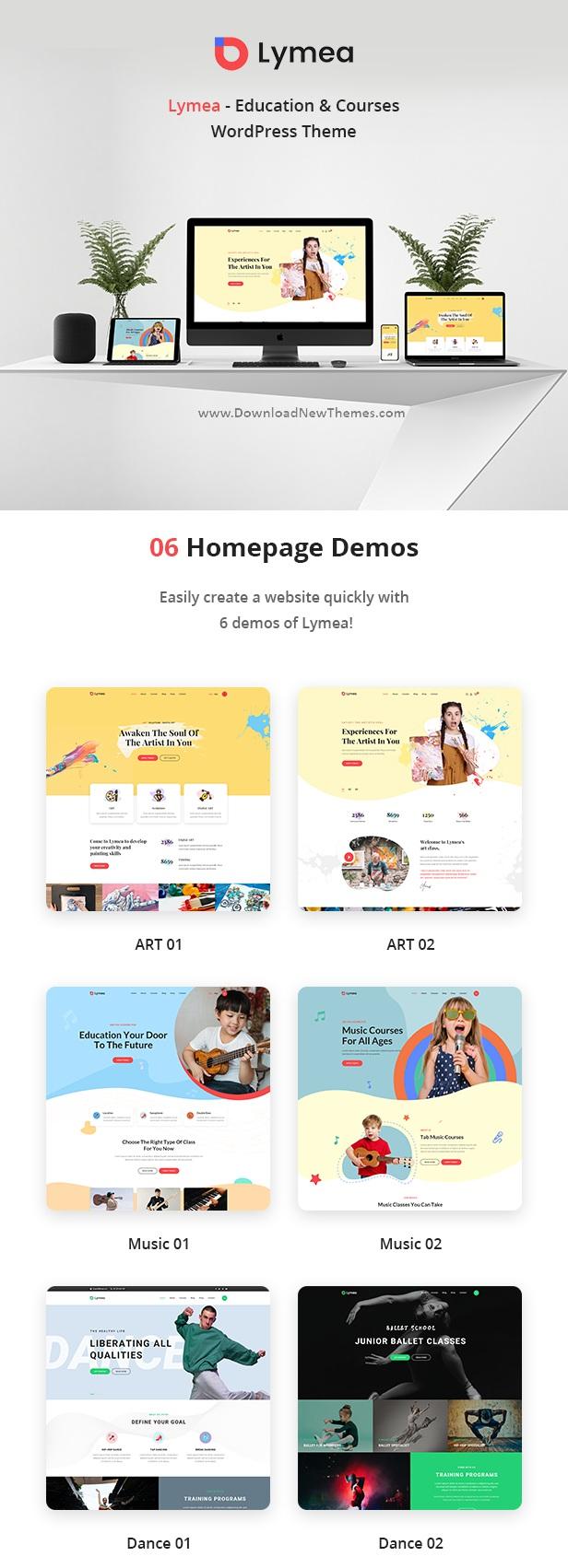 Art & Music School WordPress Theme