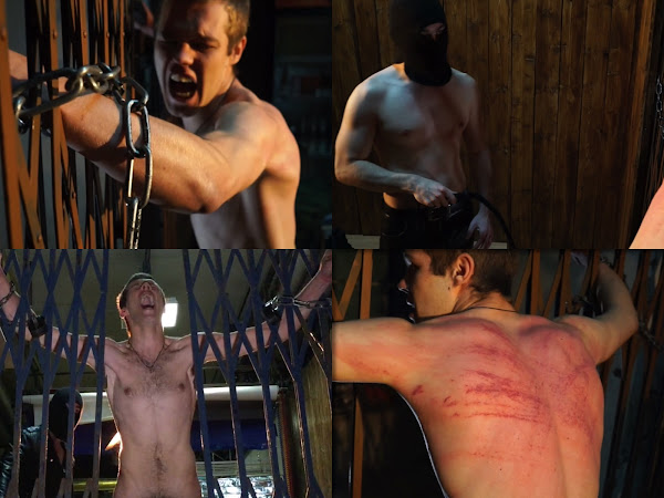 #RusStraightGuys - Waves of pain – Back whipping for Soldier Nikitych 19 y.o.