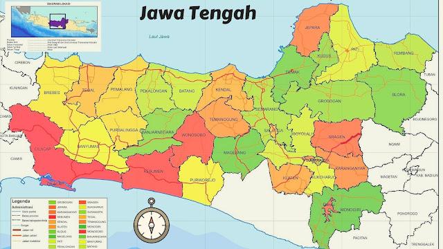 Peta Jawa Tengah HD