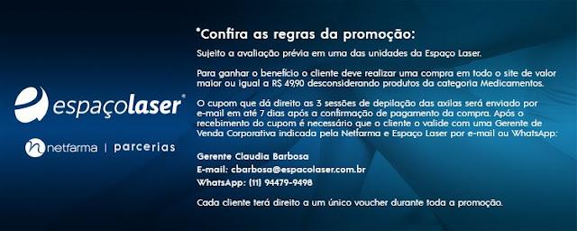 NETFARMA ESPAÇO LASER CUPOM JULIANEFREIRE